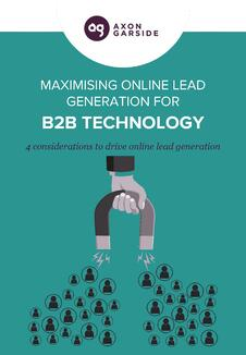 Download the free guide 'Maximising Online Lead Generation for B2B Technology
