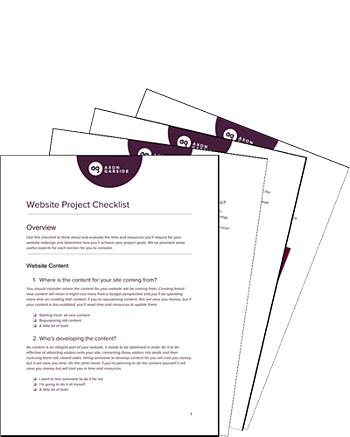 Download the free website project checklist