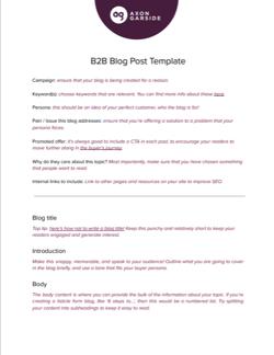 B2B Blog Template