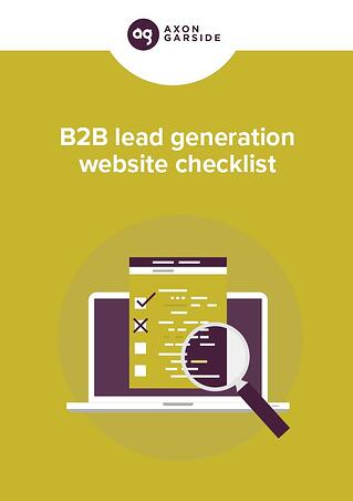 Download the B2B lead generation website checklist