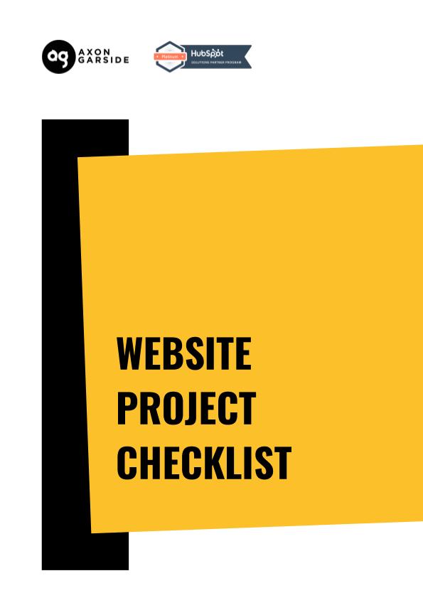 2020 - 06 - Axon Garside - Ebook - Website Project Checklist