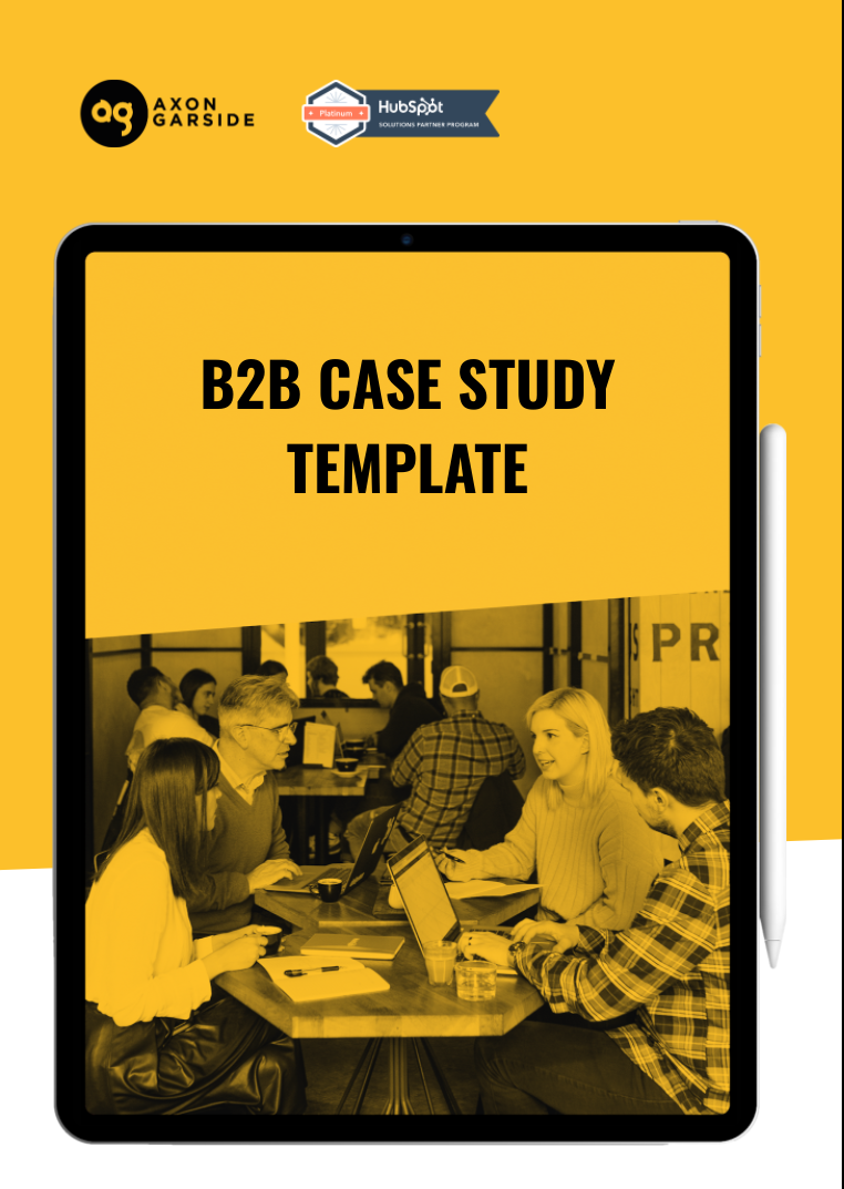 B2B case study template cover